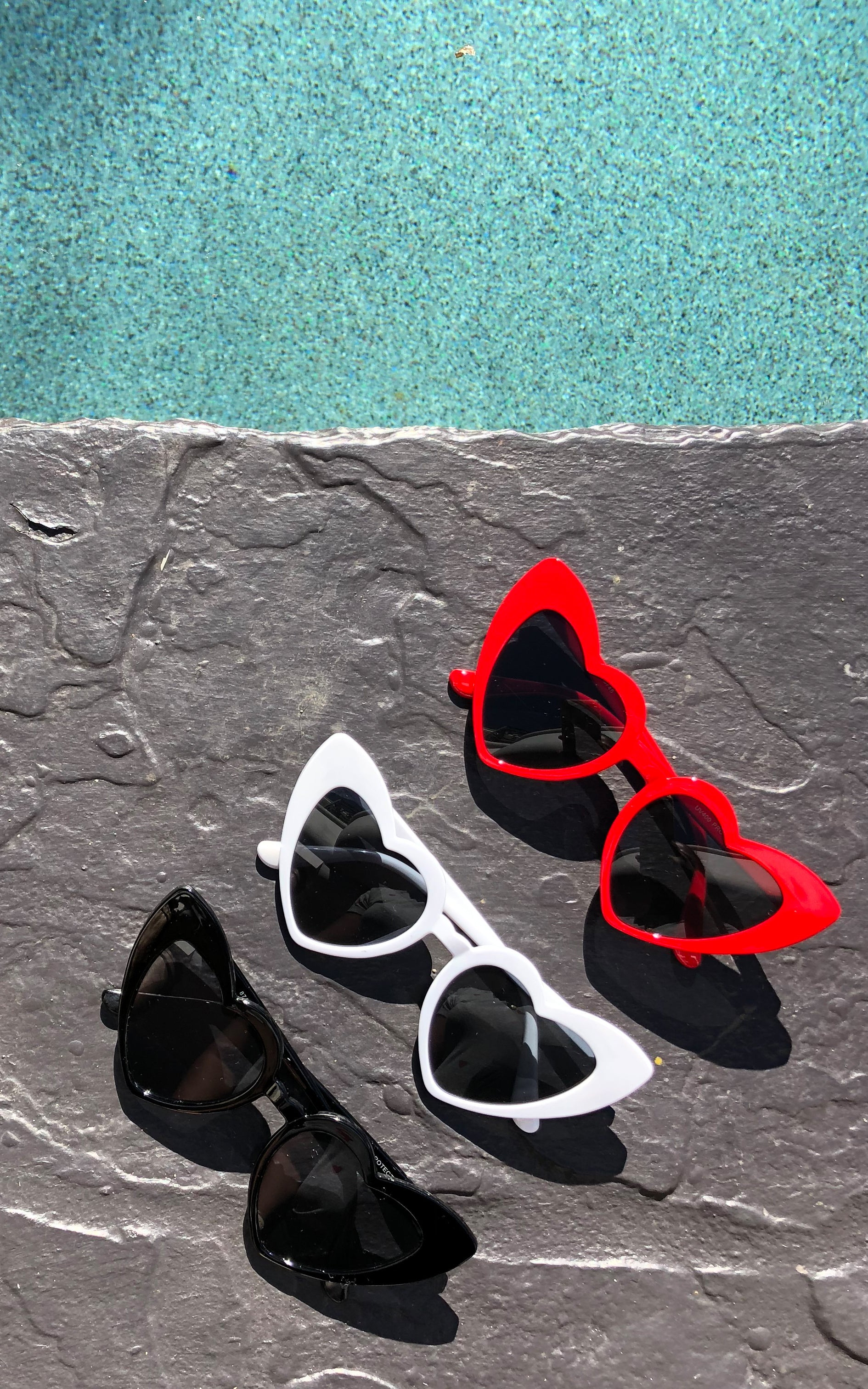 Heart Shaped Sunnies - Chynna Dolls Swimwear