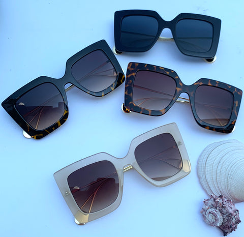 Sunglasses: Square Shape Sunnies - Chynna Dolls Swimwear