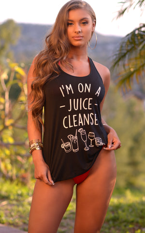 "Summer Tank Top: ""I'm on a Juice Cleanse"" - Chynna Dolls Swimwear"