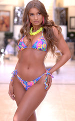 Laguna: String Bathing Suit in Tahitian - Chynna Dolls Swimwear
