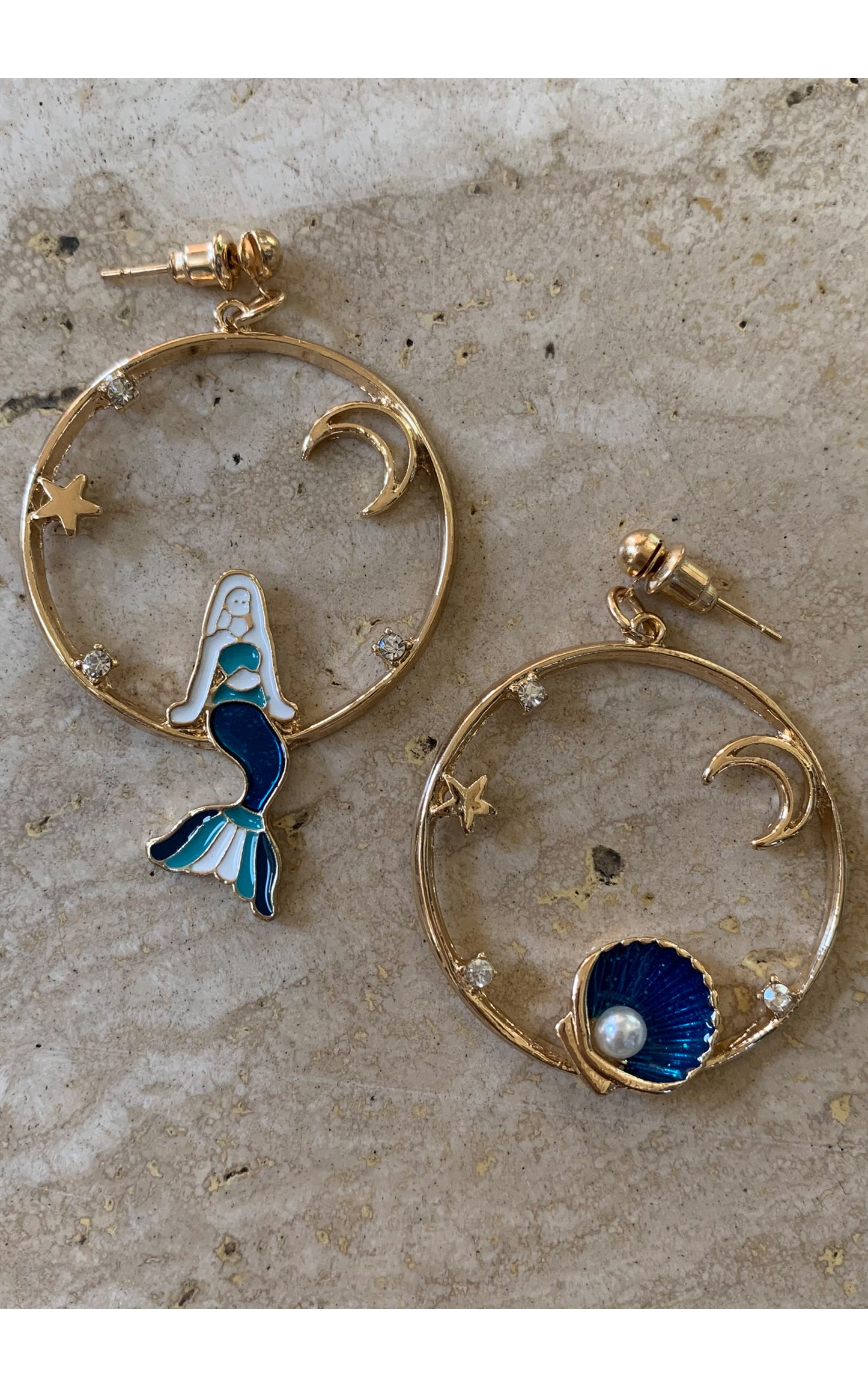 Earring: Mermaid Hoops - Chynna Dolls Swimwear