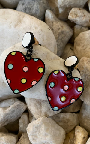 Earring: Polkadot Hearts - Chynna Dolls Swimwear