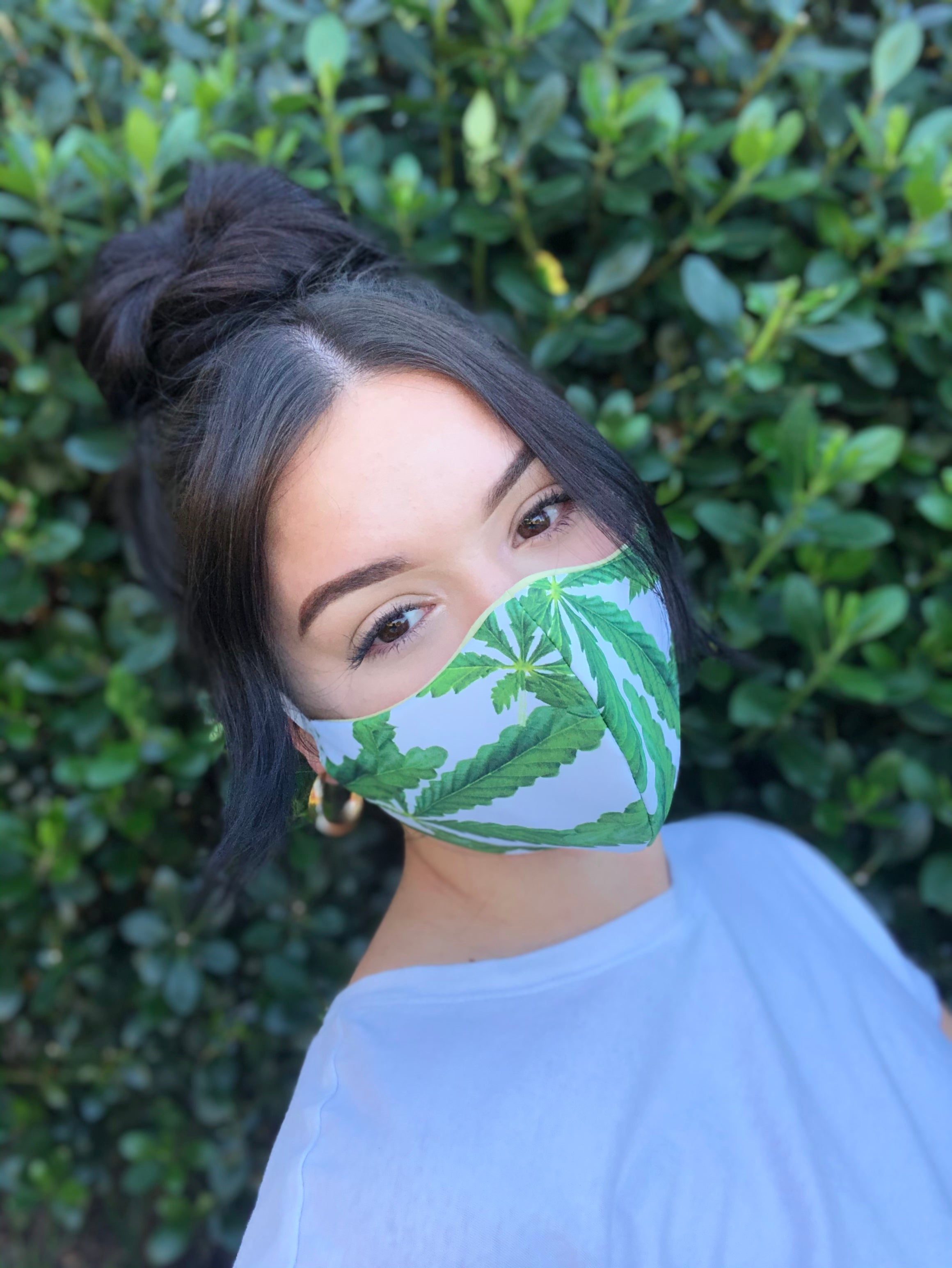 Face Mask: Reversible in 420 x Sage - Chynna Dolls Swimwear