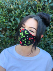 Face Mask: Reversible in Cherries x Red - Chynna Dolls Swimwear