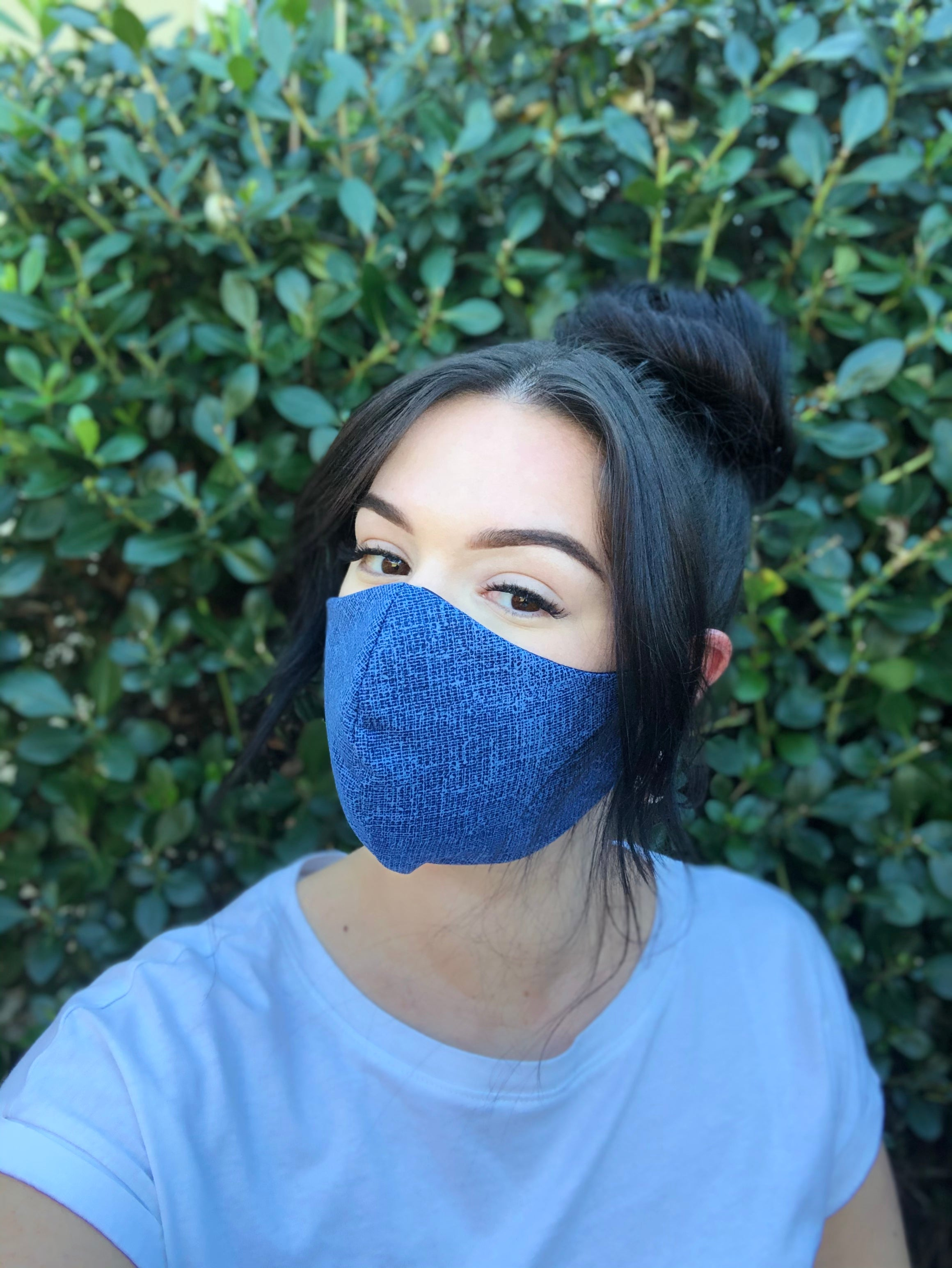 Face Mask: Reversible in Denim x Navy - Chynna Dolls Swimwear