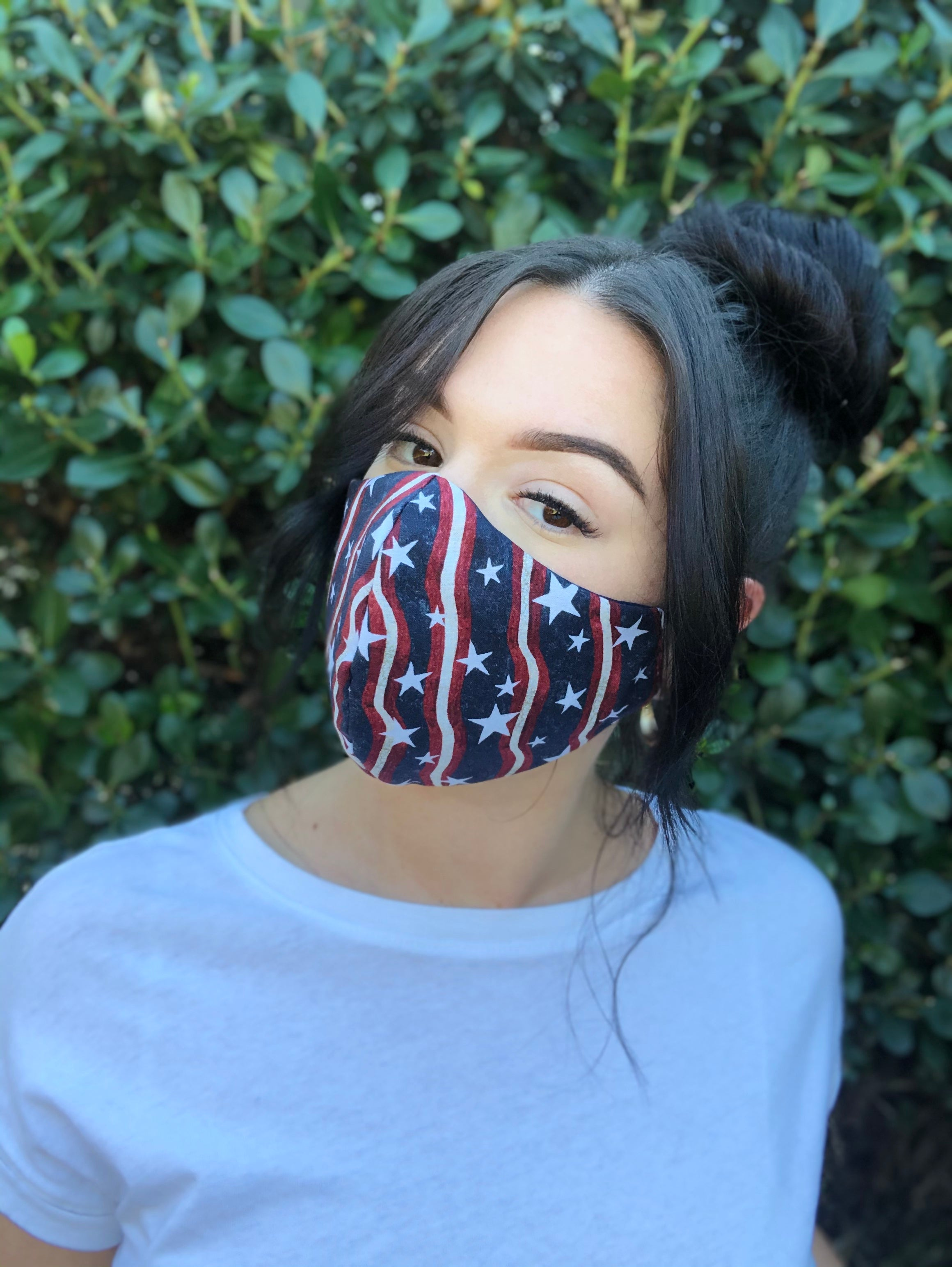 Face Mask: Reversible in Patriotic x Navy - Chynna Dolls Swimwear