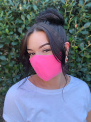 Face Mask: Reversible in Butterfly x Bubblegum Pink - Chynna Dolls Swimwear