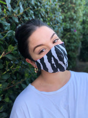 Face Mask: Reversible in Zebra x Bubblegum Pink - Chynna Dolls Swimwear