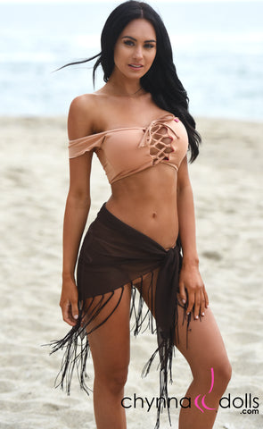 Fringe Sarong with Tassel Detail