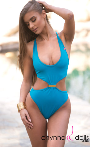 370c6569f193b Mykonos  Cut-Out One-Piece Swimsuit in Jade