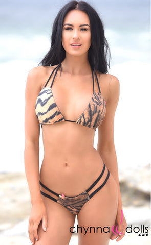 Bronx: Reversible Micro Bikini and 2-Way Top in Tiger x Black
