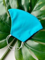 Face Mask: Reversible in Stripes x Turquoise - Chynna Dolls Swimwear