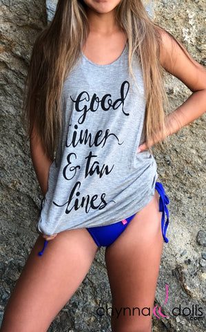 "Summer Tank Top: ""Good Times and Tan Lines"" - Chynna Dolls"