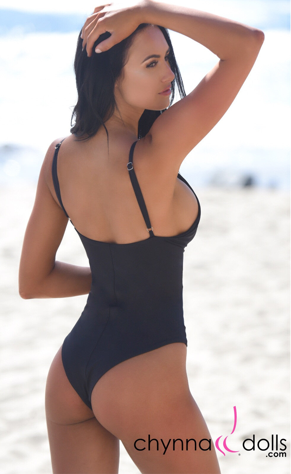 ST. JOHN: Monokini w/ Cage Front Detail in Black - Chynna Dolls