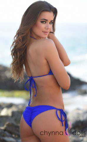Venice: Micro Bathing Suit in Solid Royal Blue - Chynna Dolls Swimwear