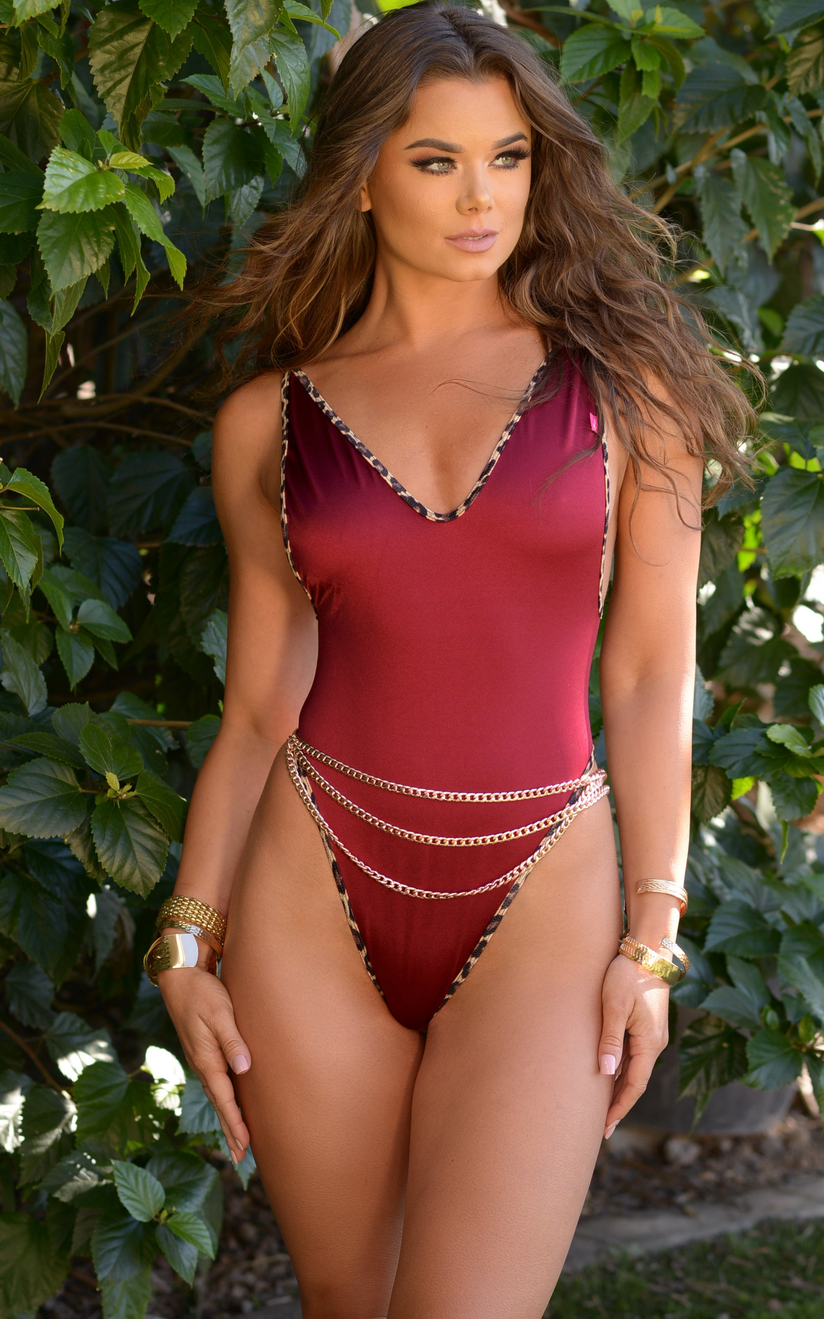 """Hips Don't Lie"" Layered 3 Tier Chain Belt in Rose Gold - Chynna Dolls Swimwear"