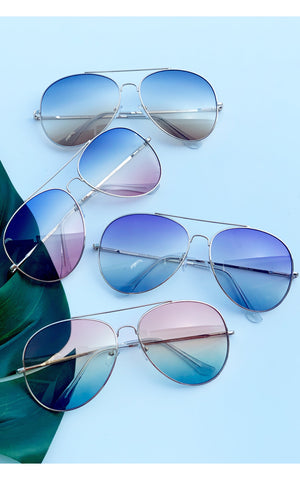 Sunglasses:Tinted Colored Aviators - Chynna Dolls Swimwear