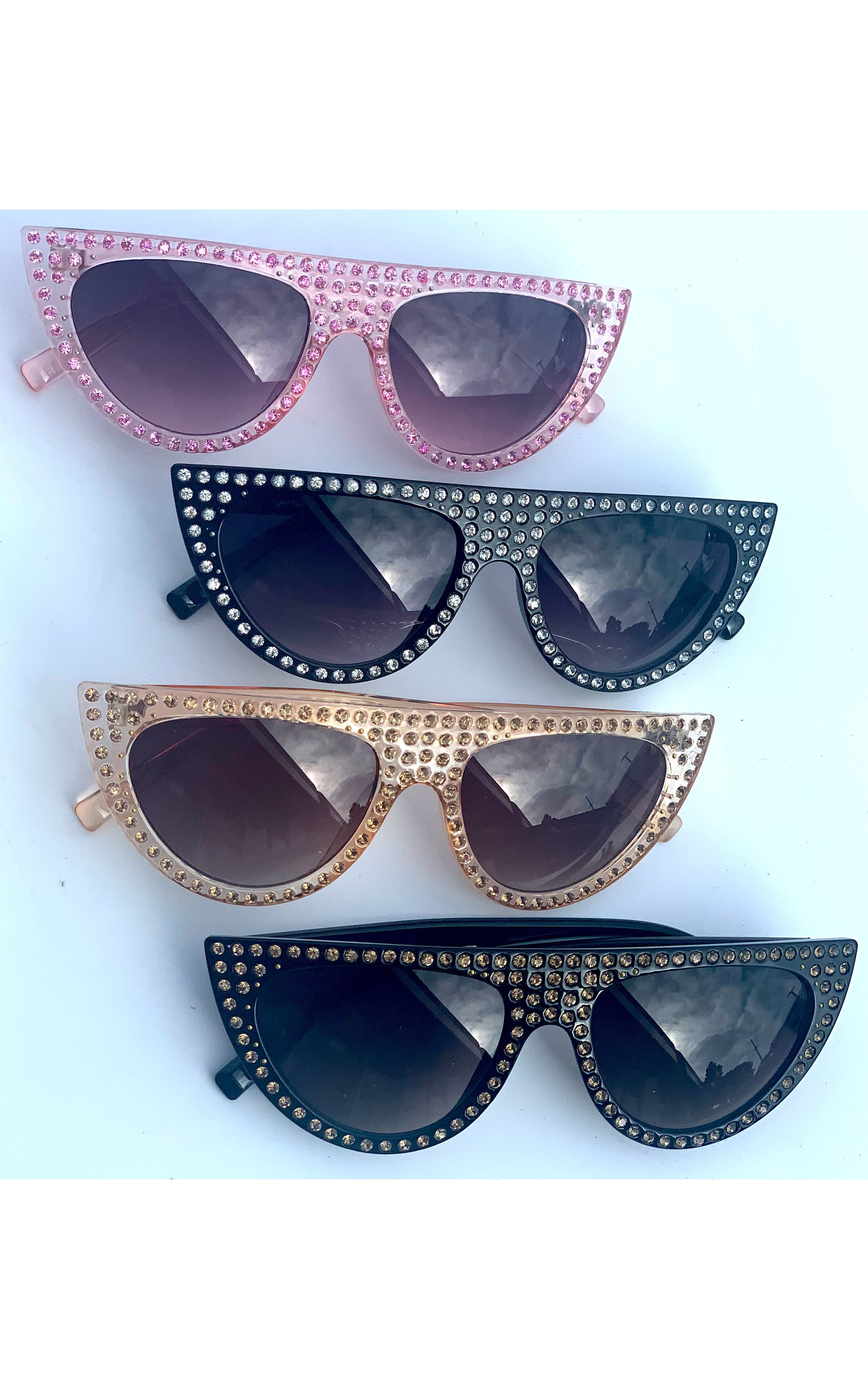Sunglasses: Rhinestone Sunnies - Chynna Dolls Swimwear