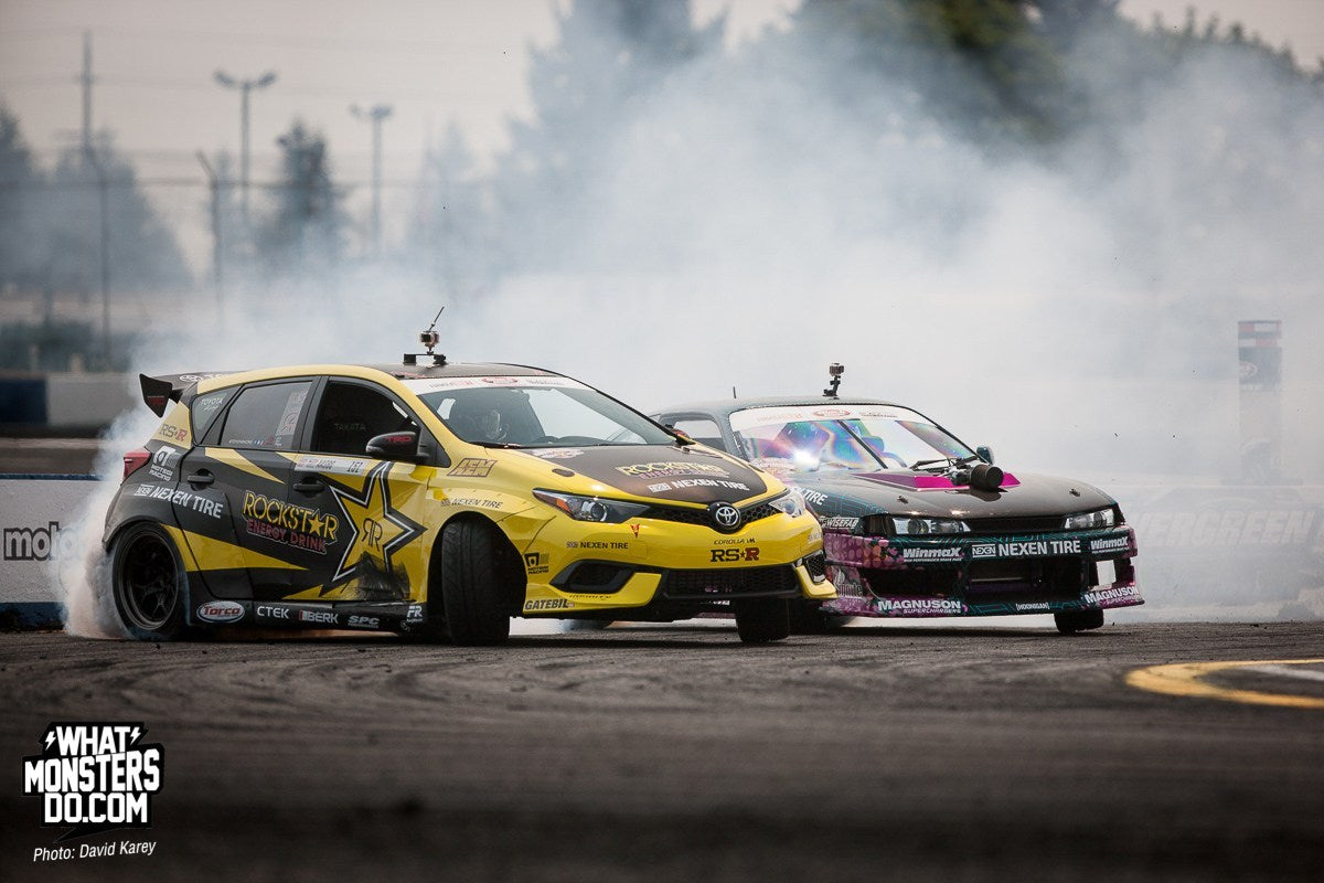 Aasbo drifting in Seattle Toyota