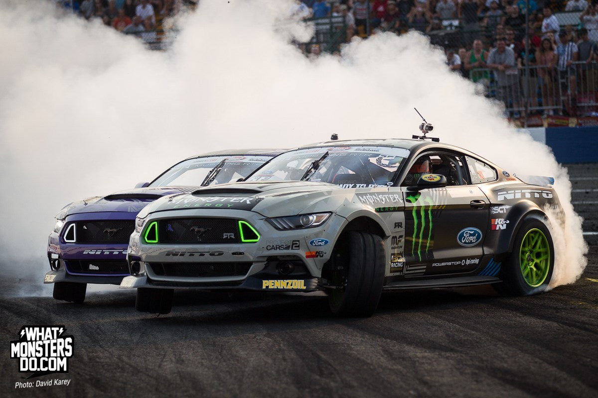Mustang drifting Monster Energy Nitto Ford Pennzoil