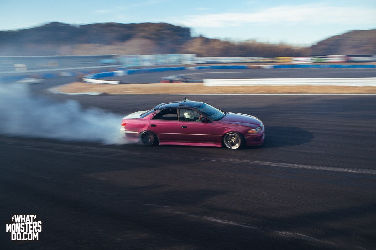 JZX100 Chaser Drifting in Japan Mobara Twin Circuit