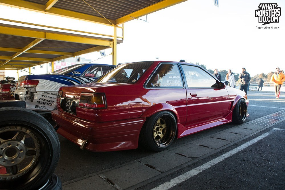 Hachi Roku AR86 Work Wheels Gold Red