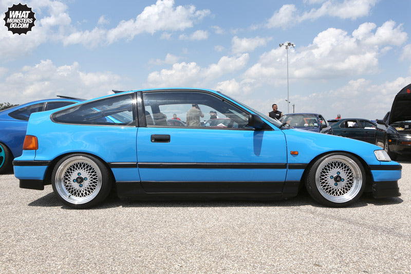 Blue Honda CRX at Import Face Off Ennis Texas