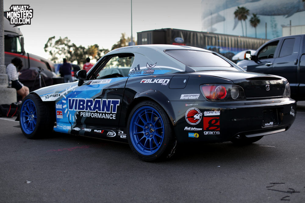 Chris Jeanneret Formula Drift Speed factory Honda S2000 at Long Beach Blue Enkei NT03+M Wheels