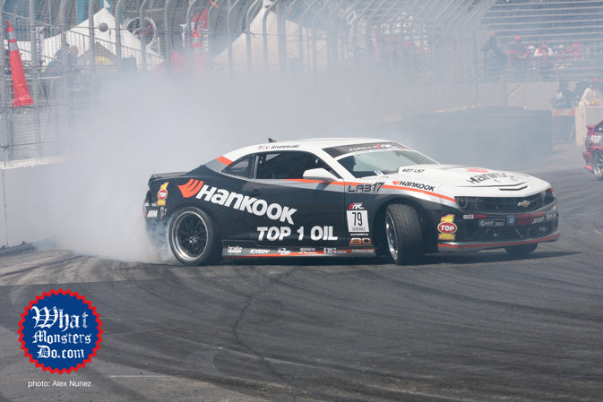 Conrad Grunewald Qualifies On The Top Spot! Formula Drift long beach 2011 camaro