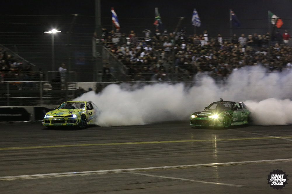 Forrest Wang and Matt Field s13 s14 Formula Drift Irwindale battle