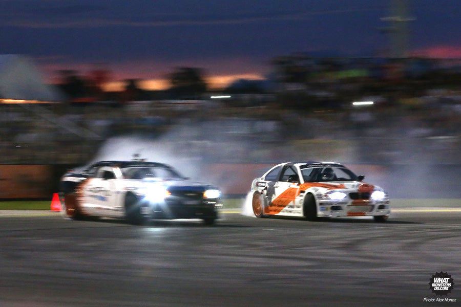 Formula Drift Round 3 Palm Beach 2013 coverage - Tyler and Michael ESSA top 16