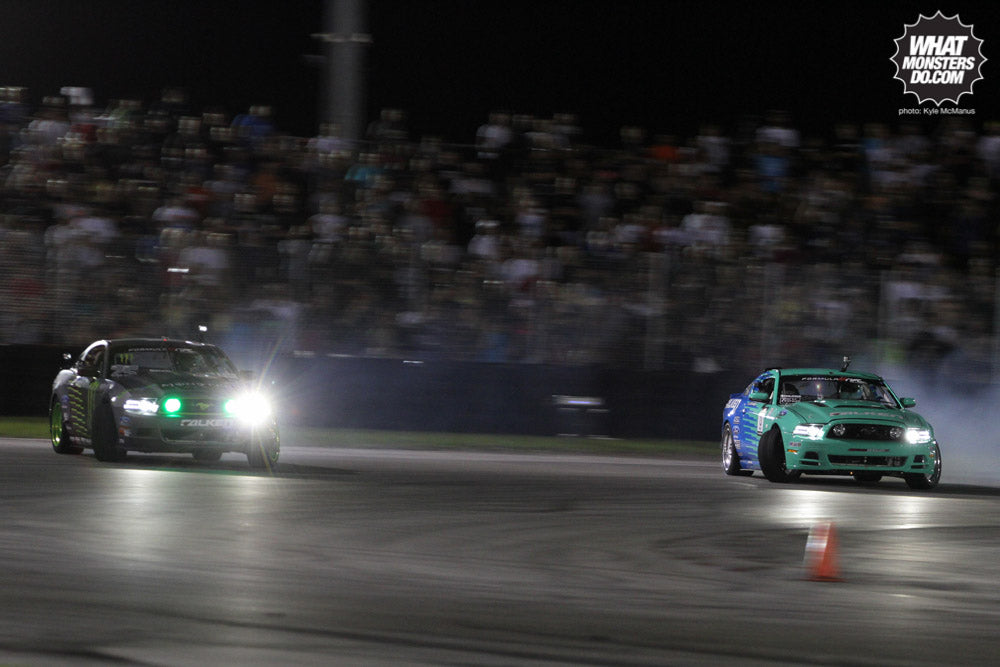 photo by Kyle McManus Vaughn Gittin JR vs Justin Pawlak Ford Mustang