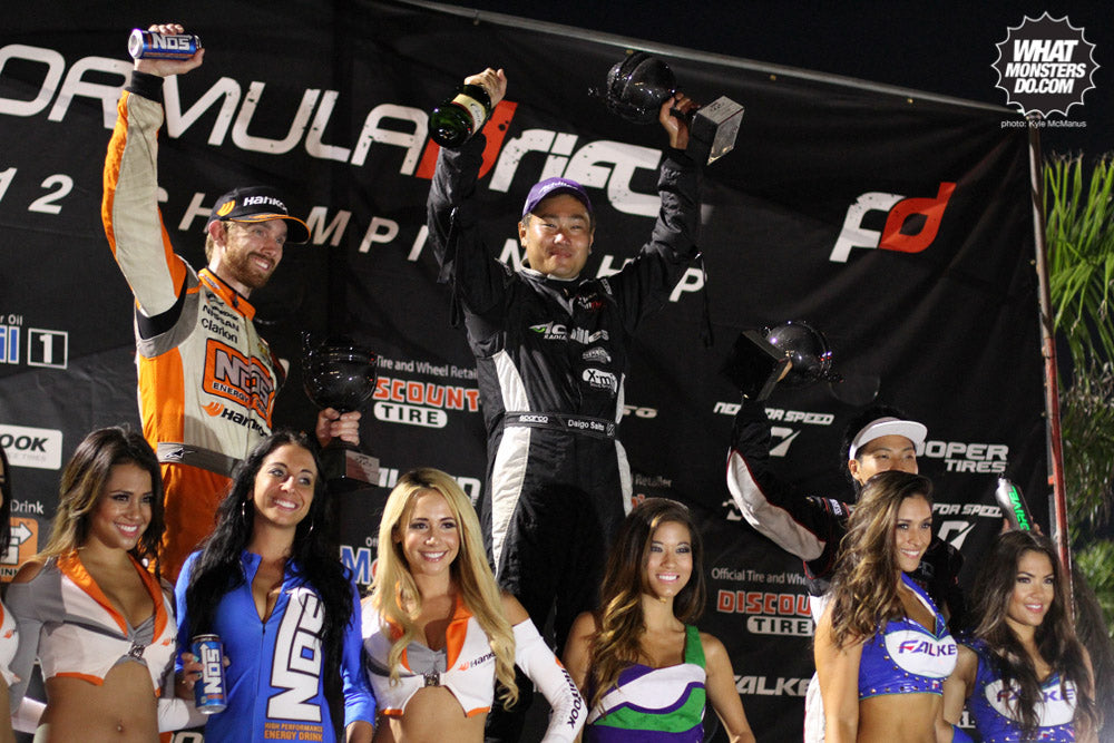 Formula Drift Round 3 Podium at Palm Beach International Raceway. Photos by Kyle McManus