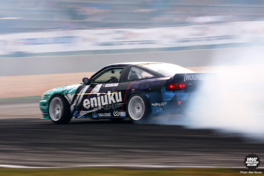 Nate Hamilton at Formula Drift Round 2 at Road Atlanta photo by Alex Nunez