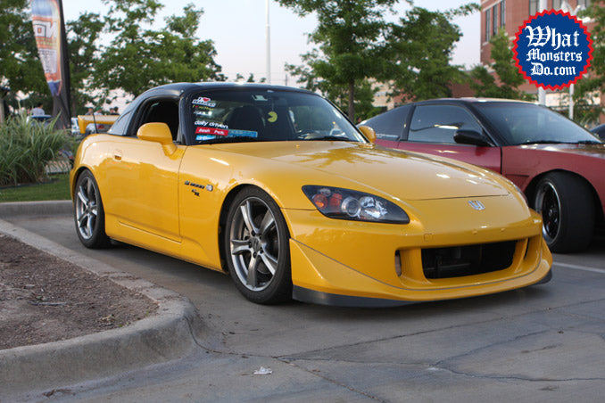 fast five premier colleyville nos energy drink honda s2000 yellow s2k slammed flush