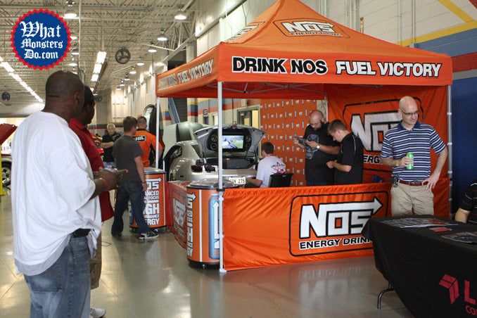 Million dollar car show in grand prairie at Lincoln College of Technology NOS Energy drink