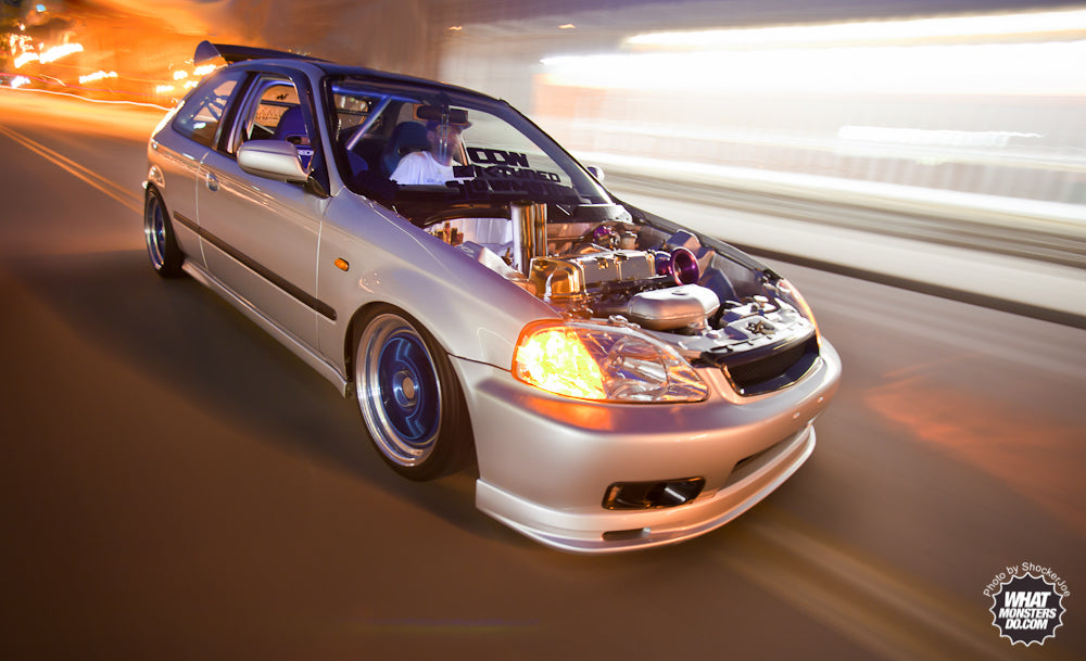 Rolling shot of Steve's Hatch