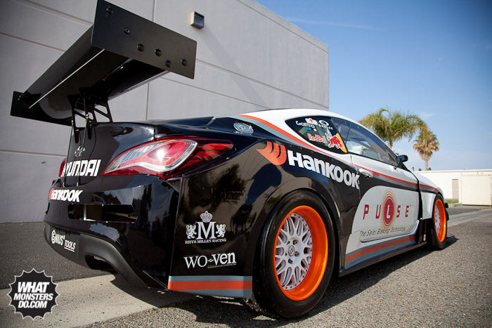 Rhys Millen Hyundai Genesis on Hankook and HRE Wheels Pikes Peak car