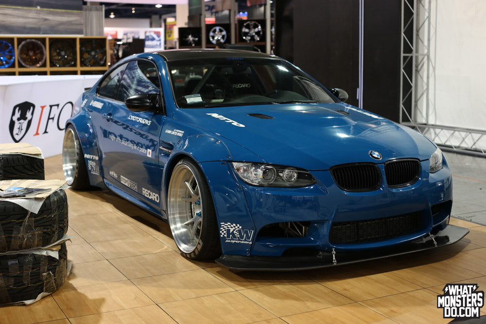 Blue Liberty Walk LB Performance BMW M3 in Forgestar SEMA 2013 Booth