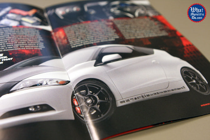 remix honda cr-z insert in performance auto and sound magazine with Enkei wheels