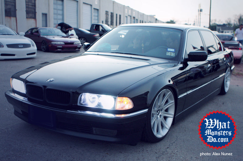 slammed black bmw 740IL