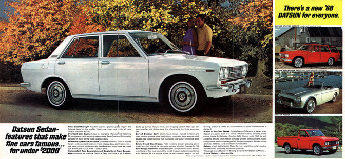 datsun 510 advertisement for 1968 classic japanese cars