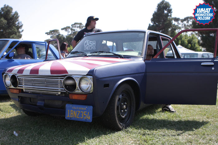 datsun 510 at japanese classic car show in long beach queen mary