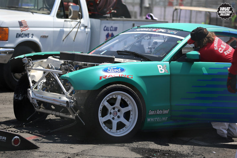 Justin JTP Pawlak Wrecks at Formula Drift Long Beach Round 1 2013