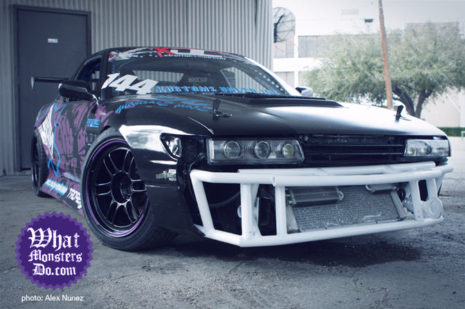 nissan 240sx on enkei rpf1 lightweight wheels. xdc driver nate hamilton in dallas texas