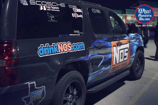 nos energy suburban with enkei grab6 truck wheels sponsored by alex nunez