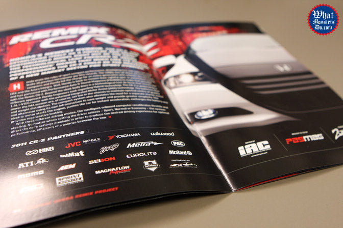 remix honda insert in performance auto and sound magazine with Enkei wheels this is the new honda cr-z