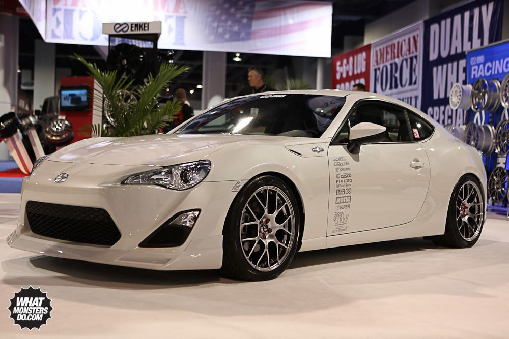 Scion FRS in ENKEI Wheels booth at SEMA 2012