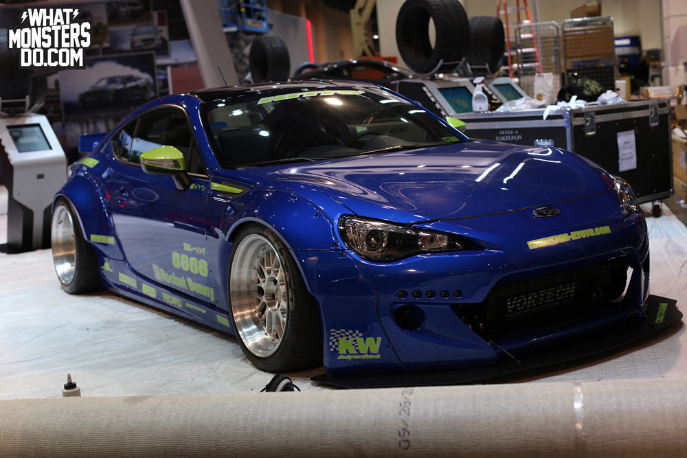 SEMA 2013 Blue BRZ in NITTO Tire booth
