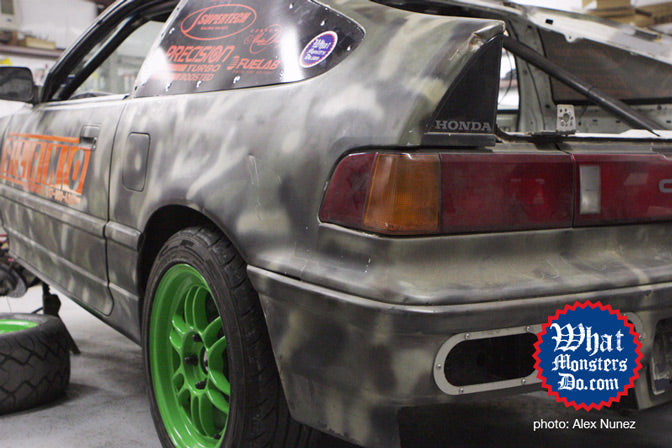 texas mile civic crx with enkei rpf1 lime green wheels